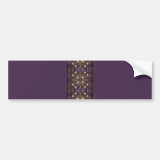 Ribbon Adorned With Pearls On Acai Violet Pattern Bumper Sticker