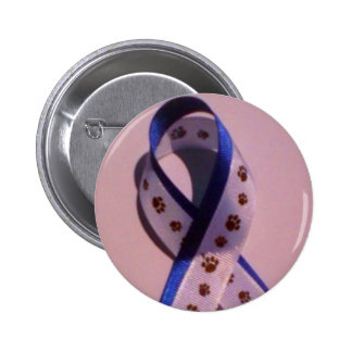 ribbon against animal abuse button