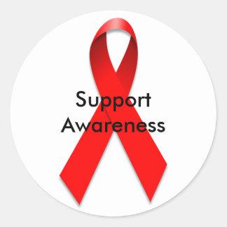 ribbon aids, Support Awareness sticker
