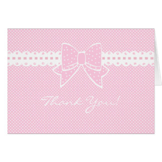 Ribbon and Bow-Baby Shower-Thank You Card