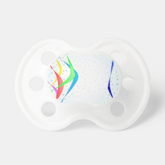 Ribbon and Confetti Party Pacifier