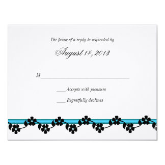 Ribbon and Flowers Response Card