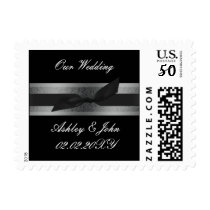 ribbon and lace silver postage