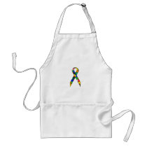 Ribbon Autism Awareness Adult Apron