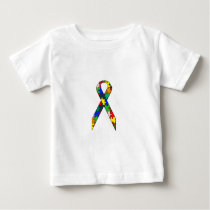Ribbon Autism Awareness Baby T-Shirt