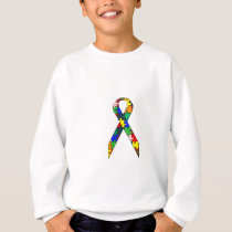 Ribbon Autism Awareness Sweatshirt