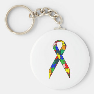 Ribbon Autismo Awareness Keychain