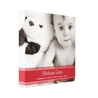 RIBBON | BABY CANVAS PORTRAIT wrappedcanvas