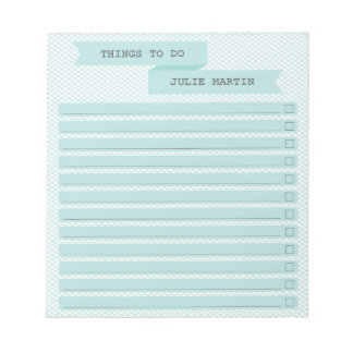 Ribbon Banner To Do Checklist Notepad