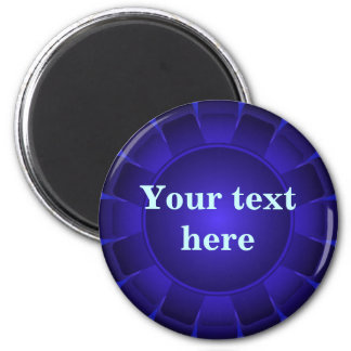 Ribbon Blue Blank to Customize 2 Inch Round Magnet