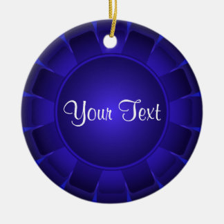 Ribbon Blue Blank to Customize Christmas Ornament