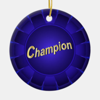 Ribbon Blue Champion to Customize Christmas Tree Ornaments