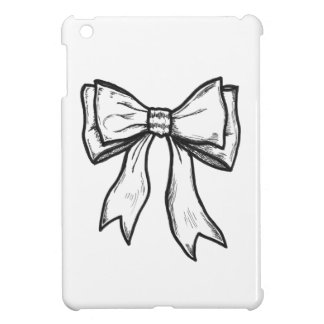Ribbon bow black and white drawing cover for the iPad mini