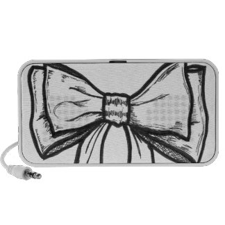 Ribbon bow black and white drawing speaker