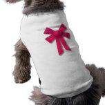 Ribbon Bow Dog Shirt