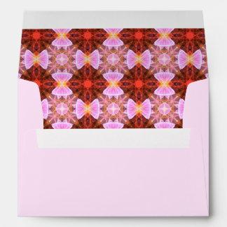 Ribbon bows pattern envelopes