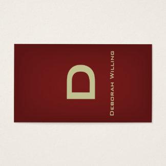 Ribbon Brass Business Card