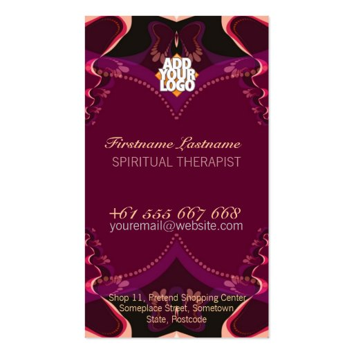 Ribbon Butterfly Goddess New Age Business Card