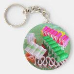 Ribbon Candy keychain