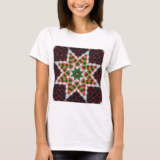 Ribbon Candy Quilt Star Dec 2012 T-Shirt