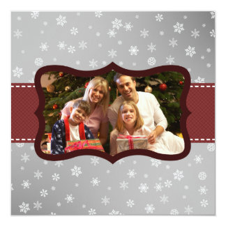 Ribbon Christmas Greetings Invitation