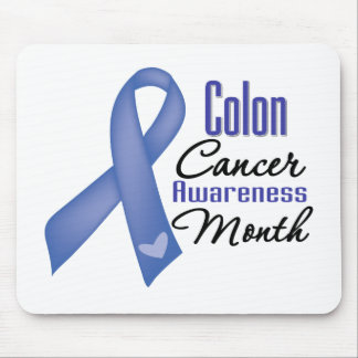 Ribbon - Colon Cancer Awareness Month Mouse Pad