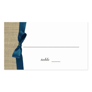 Ribbon Country Blue Place Card
