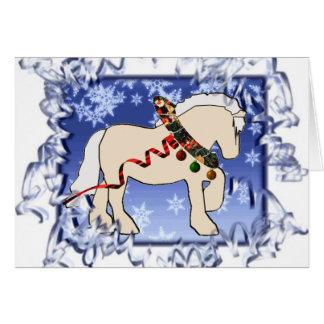 Ribbon Cream Christmas Card
