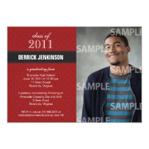 Ribbon Cross Graduation Invitation
