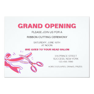 Store opening invitations announcements zazzle ribbon cutting ceremony invitation stopboris Choice Image