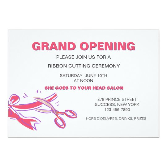 sle invitation letter to ribbon cutting ceremony ribbon cutting ceremony invitation zazzle 260