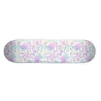 Ribbon Dolly Party Skate Deck (WHITE)