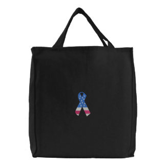 Ribbon Embroidered Tote Bag
