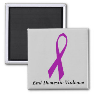 Ribbon, End Domestic Violence Magnet