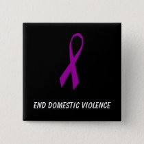 Ribbon, End Domestic Violence Pinback Button