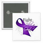 Ribbon - Fight Like a Girl - Alzheimers Disease Pinback Buttons