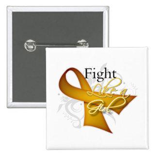 Ribbon - Fight Like a Girl - Appendix Cancer 2 Inch Square Button