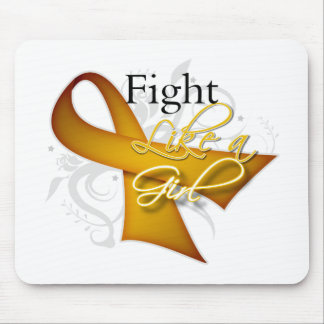Ribbon - Fight Like a Girl - Appendix Cancer Mousepads