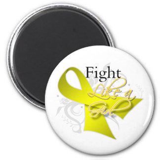 Ribbon - Fight Like a Girl - Bladder Cancer Magnet