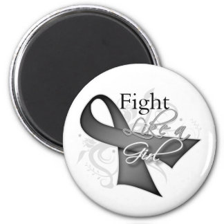 Ribbon - Fight Like a Girl - Brain Cancer 2 Inch Round Magnet