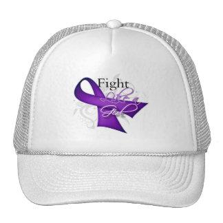 Ribbon - Fight Like a Girl - Crohns Disease Mesh Hats