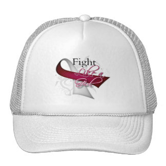 Ribbon - Fight Like a Girl - Head Neck Cancer Trucker Hats