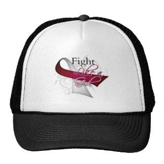Ribbon - Fight Like a Girl - Head Neck Cancer Trucker Hat