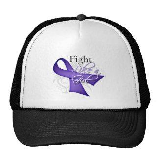 Ribbon - Fight Like a Girl - Hodgkins Lymphoma Trucker Hat