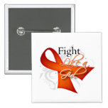Ribbon - Fight Like a Girl - Kidney Cancer Pinback Button