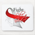 Ribbon - Fight Like a Girl - Oral Cancer Mouse Pad