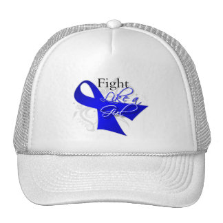 Ribbon - Fight Like a Girl - Rectal Cancer Mesh Hats