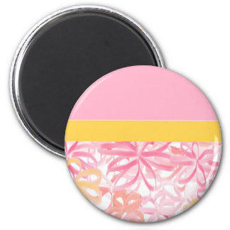 """""""RIBBON FLOWERS"""" 2 INCH ROUND MAGNET"""