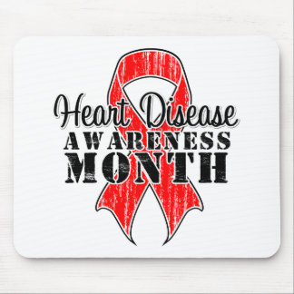 Ribbon For Heart Disease Awareness Month Mouse Pads
