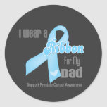 Ribbon For My Dad - Prostate Cancer Round Sticker